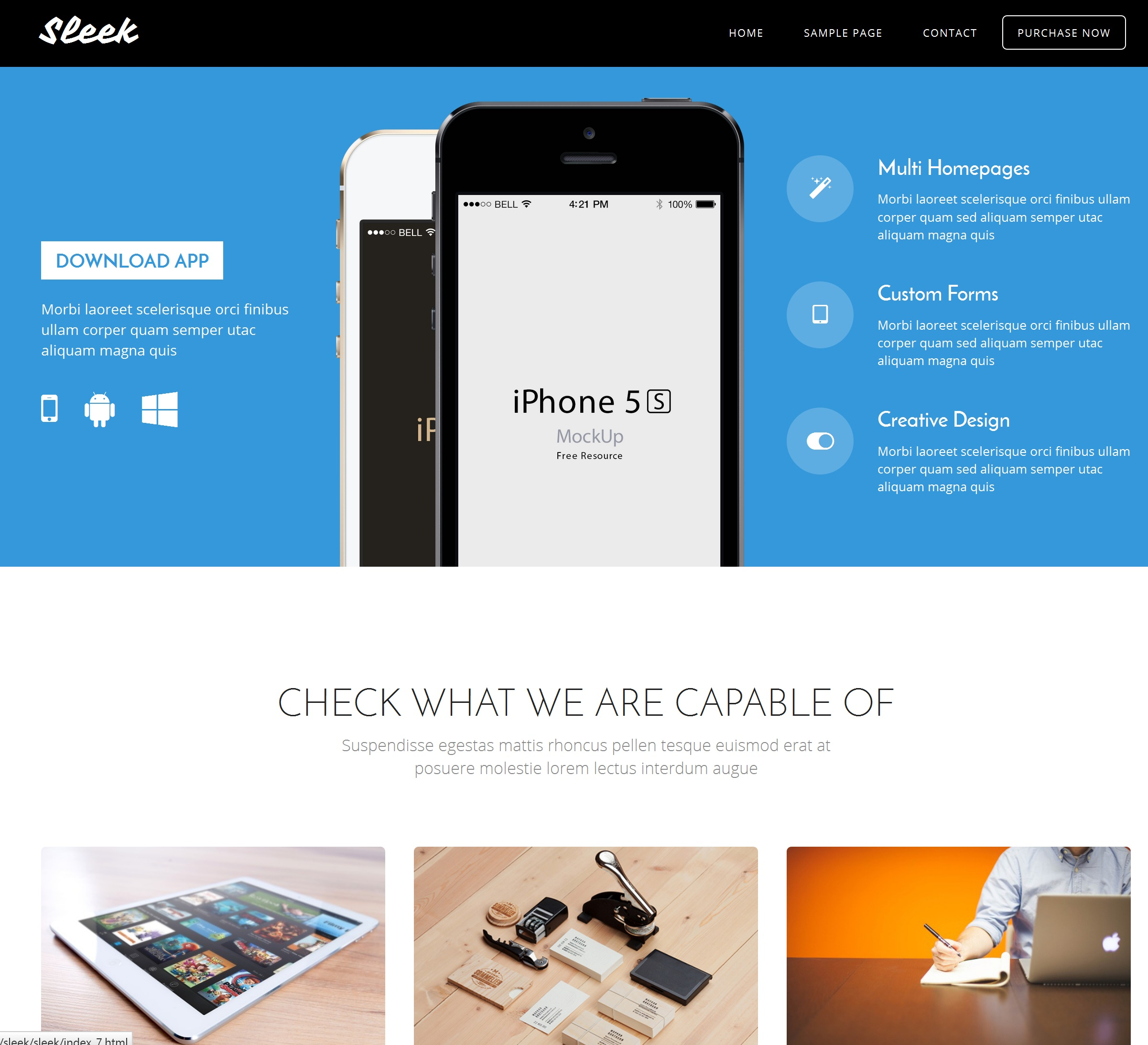 CSS3 Bootstrap Blog Theme