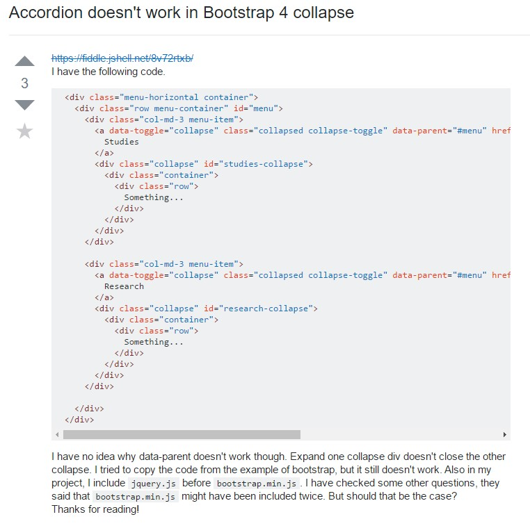 Bootstrap collapse  problem