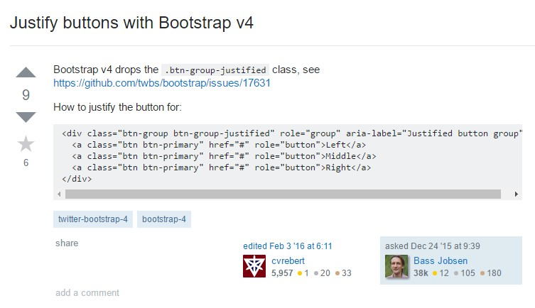 Maintain buttons with Bootstrap v4
