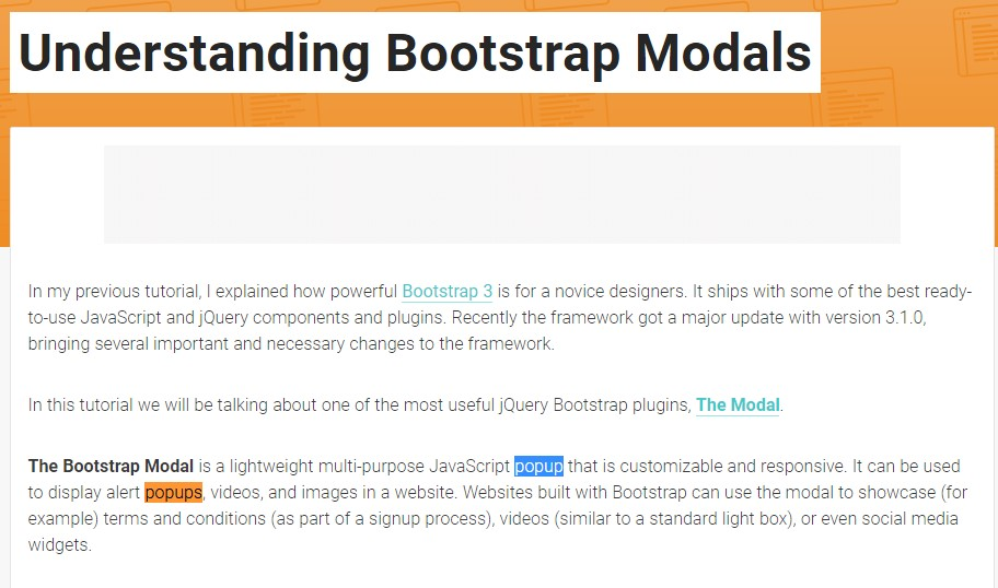 Yet another  practical  information about Bootstrap Modal Popup