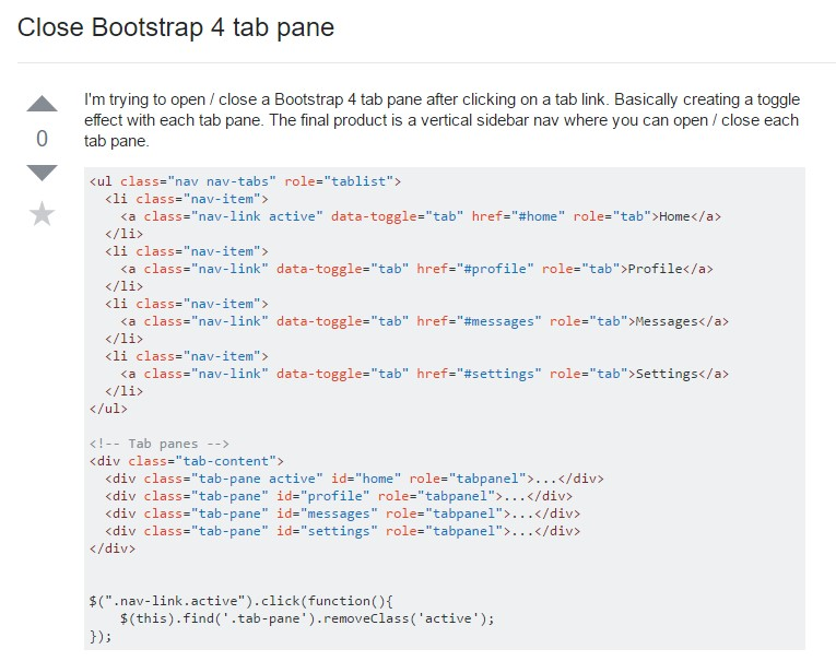 The best ways to  turn off Bootstrap 4 tab pane
