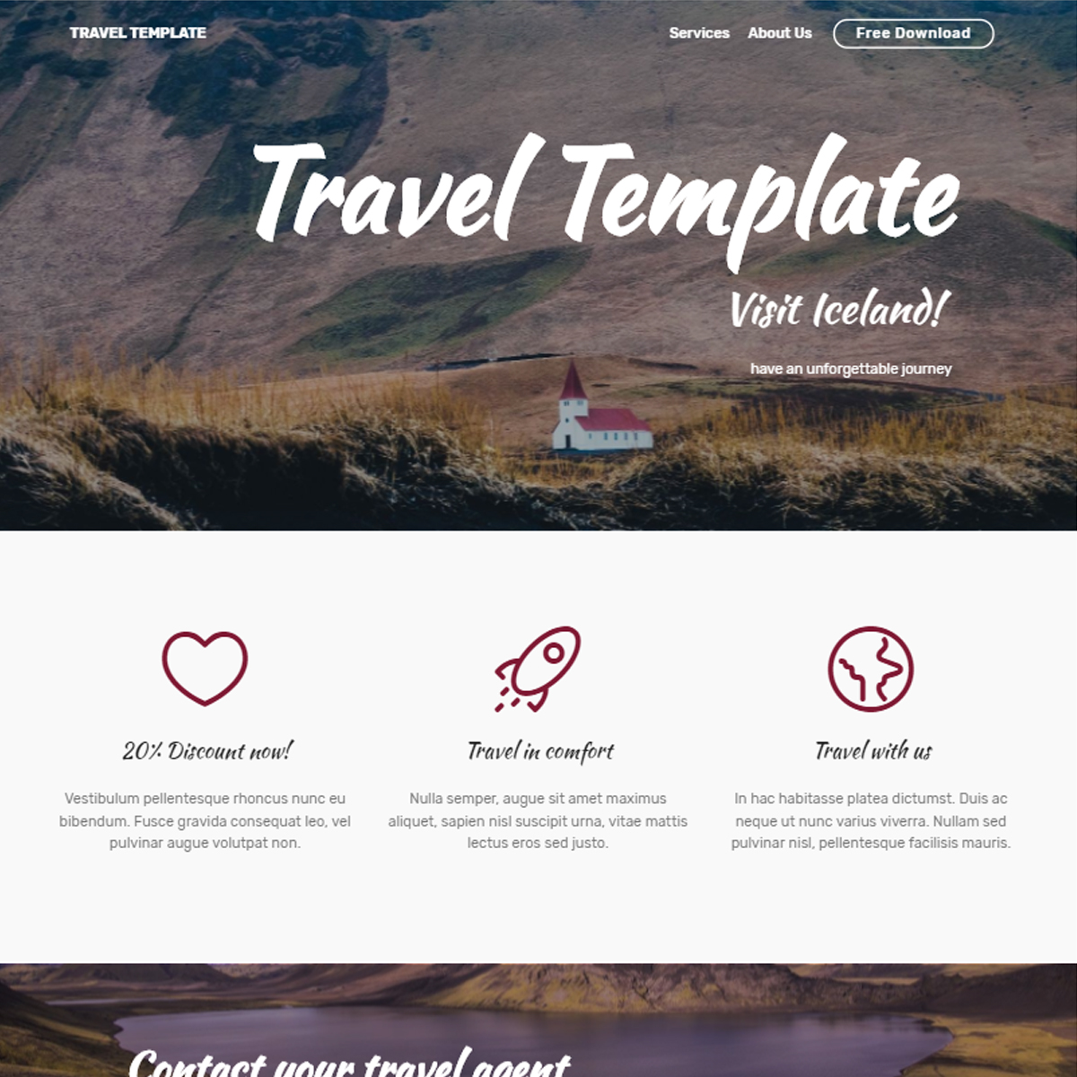 Responsive Bootstrap Travel Themes